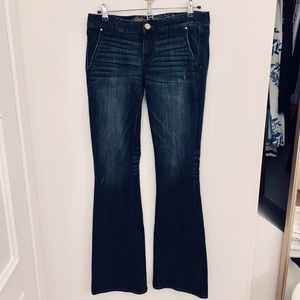 Express Stella Slim Flare Low Rise Jeans